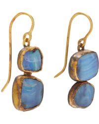 Judy Geib - Blue Opal Double Drop Earrings - Lyst