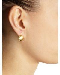 Linda Lee Johnson - Yellow Diamond Moon Phase Earrings - Lyst