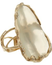Lucifer Vir Honestus | Metallic Diamond Moonstone Ice Ring | Lyst