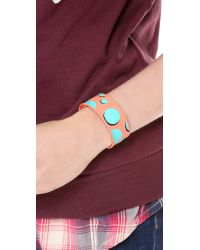 Marc By Marc Jacobs - Multicolor Polka Dot Slap Bracelet - Lyst