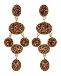 Marcia Moran | Red Bronze Druzy Chandelier Earrings | Lyst