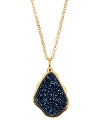 Marcia Moran - Irregular Druzy Pendant Necklace Dark Blue - Lyst