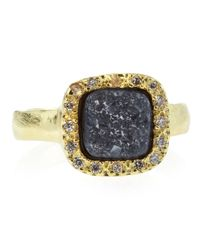 Marcia Moran | Blue Pave Square Druzy Ring Black Size 8 | Lyst