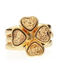 Marcia Moran | Metallic Set Of Three Druzy Heart Rings Size 6 | Lyst