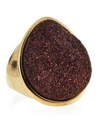 Marcia Moran - Purple Tearshaped Druzy Ring Bronze - Lyst