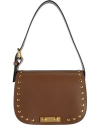 Marni - Brown Studded Small Saddle Bag - Lyst