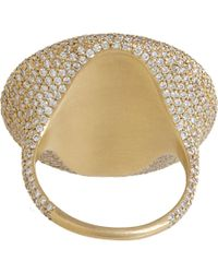 Monique Pean Atelier - Metallic Diamond Grey Sapphire Oval Ring - Lyst