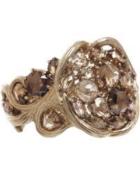 Nak Armstrong - Metallic Rustic Diamond Ring - Lyst