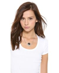 Pamela Love - Black Rise Pendant Necklace - Lyst
