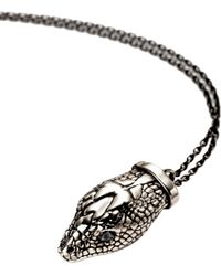 Pamela Love | Metallic Large Silver and Spinel Serpent Head Pendant | Lyst