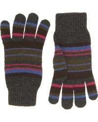 Paul Smith - Black Mixed Stripe Glove for Men - Lyst