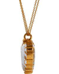 Renee Lewis - Yellow Diamond Shake Rock Crystal Heart Pendant Necklace - Lyst