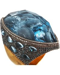 Sevan Biçakci | Yellow Dolphin Carved Blue Topaz Ring | Lyst