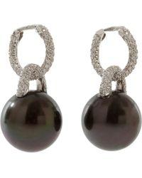 Sidney Garber - Metallic Black Tahitian Pearl Earrings - Lyst