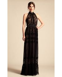 Temperley London - Black Long Lily Graphic Dress - Lyst