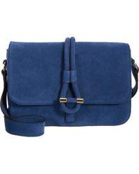 Tila March - Blue Suede Romy Messenger Bag - Lyst