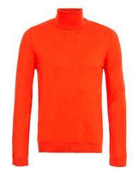 TOPMAN | Orange Roll Neck Sweater for Men | Lyst