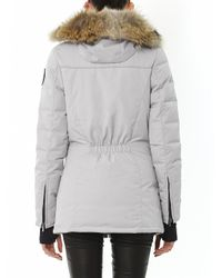 Canada Goose - Gray Dorset Fur-Trim Down Coat for Men - Lyst