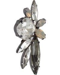 Elizabeth Cole - Metallic Elson Hematite Plated Swarovski Crystal Earrings - Lyst