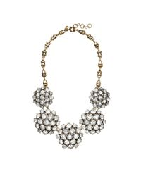 J.Crew | Metallic Crystal Cluster Necklace | Lyst