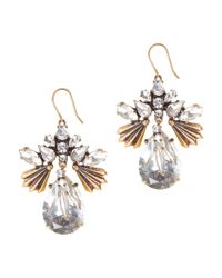 J.Crew | Metallic Fanned Droplets Earrings | Lyst