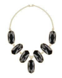 Kendra Scott | Large Black Tourmaline Bib Necklace | Lyst
