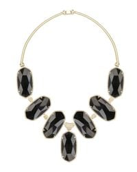 Kendra Scott - Large Black Tourmaline Bib Necklace - Lyst