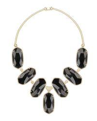 Kendra Scott | Large Black Tourmaline Bib Necklace | Lyst