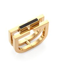 Saint Laurent | Metallic Babylone Onyx Bangle Bracelet | Lyst
