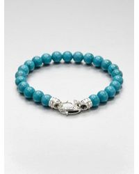 Stephen Webster | Blue Malachite Beaded Bracelet for Men | Lyst