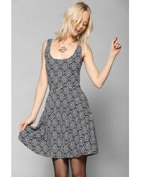 Urban Outfitters - White Ecote Boho Print Knit Skater Dress - Lyst