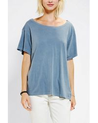 Urban Outfitters - Blue Truly Madly Deeply Open Back Stephanie Tee - Lyst