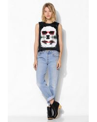 Urban Outfitters - Black Deter Panda Shades Muscle Tee - Lyst