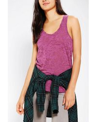 Urban Outfitters | Pink Bdg Burnout Racerback Tank Top | Lyst