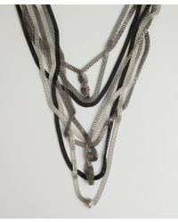 Adia Kibur - Metallic Silver Metal Coil Chain Necklace - Lyst
