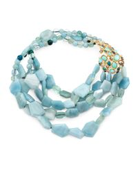 Alexis Bittar | Blue Multi-Strand, Multi-Stone Necklace | Lyst