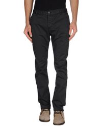 Armani Jeans | Black Casual Trouser for Men | Lyst