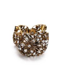 Erickson Beamon - Metallic Heart Of Gold Bracelet - Lyst