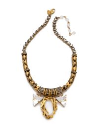 Erickson Beamon - Metallic Velocity Crystal Drop Necklace - Lyst