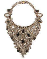 Erickson Beamon | Metallic Aerin Goldplated Swarovski Crystal Necklace | Lyst