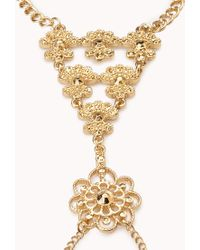 Forever 21 - Metallic Gold Goddess Hand Chain - Lyst