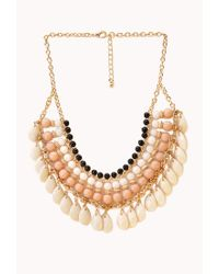 Forever 21 | Multicolor Worldly Beaded Bib Necklace | Lyst