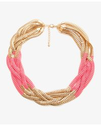 Forever 21 - Metallic Colorblocked Snake Chain Necklace - Lyst