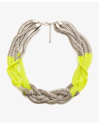Forever 21 - Yellow Colorblocked Snake Chain Necklace - Lyst