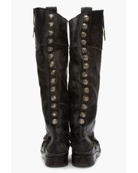 Golden Goose Deluxe Brand - Black Leather Worn Charlye Boot - Lyst