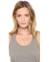 Jennifer Zeuner | Metallic Gemma White Sapphire Lariat Necklace | Lyst