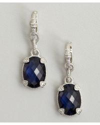 Judith Ripka - Metallic Blue Corundum and Silver Drop Earrings - Lyst
