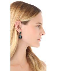 Kenneth Jay Lane - Metallic Oval Pear Dangle Statement Earrings - Lyst