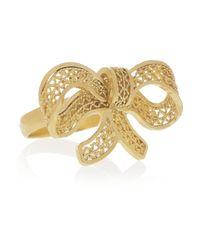 Mallarino - Metallic Caroline Goldvermeil Bow Ring - Lyst