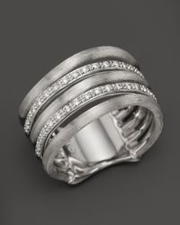 Marco Bicego | Metallic Diamond Jaipur Link 5 Row Ring in 18k White Gold 26 Ct Tw | Lyst